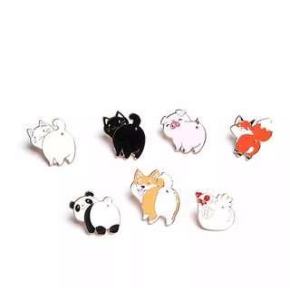 🐼🐥[PO] Cute Animal Enamel Pins🐰🐸