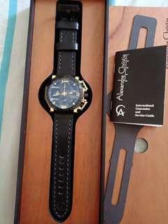 Alexandre Christie AC 6373 MC Black Gold Brand New Open Box
