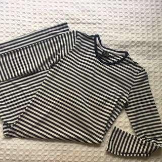 Huffer navy midi dress