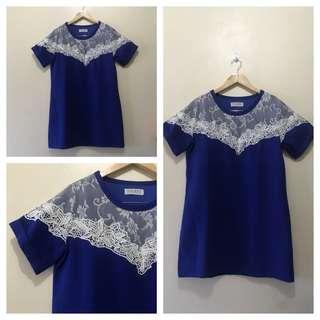 Dotori Lace Blue Dress