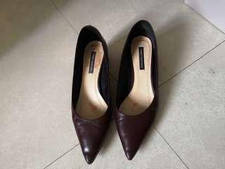 Red wine color shoes
