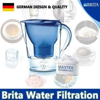 100% Authentic BRITA Marella XL 3.5L Water Pitcher Purifier with Cartridge Drinking healthy and safe/Changeable filter/Good quality---Blue