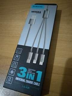 3 in 1 Universal Charge Cable