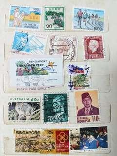 Collection of >230 stamps