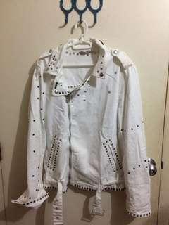 Zara motorcycle jacket in denim