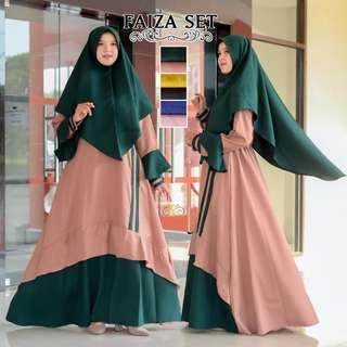 3 designs / colors jubah and khimar