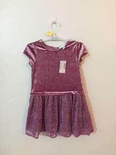 3T the children's place suede glitter dress