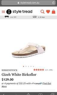 Birkenstock White Birkoflor