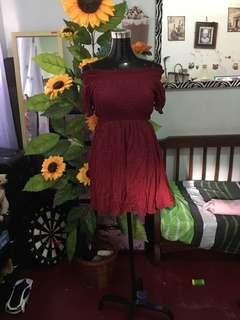 Ailunma maroon dress