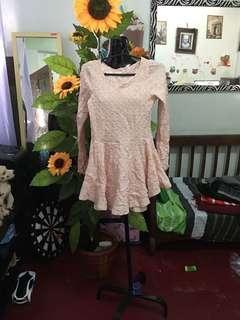 Casual peach dress