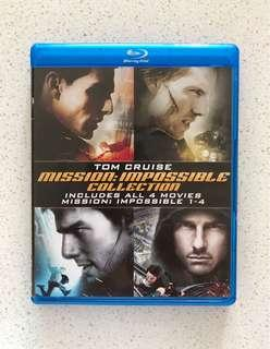 Mission Impossible Collection of 4 Movies