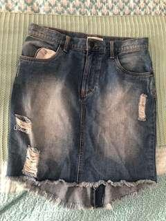 Rusty Denim Skirt