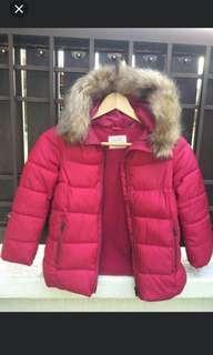 Zara Girls hooded winter jacket