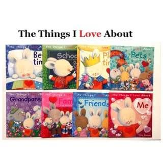 🚚 The Things I Love Series By Trace Moroney ( 8books with 1 Audio CD)