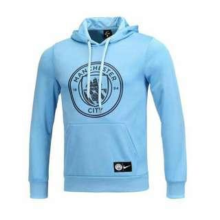 Manchester City 18-19 Blue Hooded Sweater