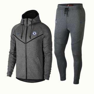 Chelsea 18-19 Grey Hooded Jacket