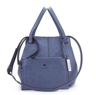 2 in 1 Leather Handbag by Hong Kong designer Mizzue