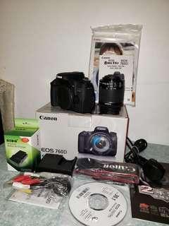 Canon 760D WiFi DSLR 99%new !!