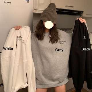 black/white/grey hoodie sweatshirt