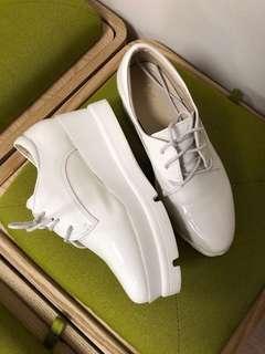 厚底鞋 白色 35號 新淨