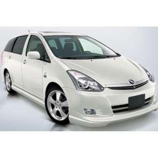 Daily/Weekend/Weekly/Monthly Toyota Wish Honda Stream( Personal-Grab-Gojek )
