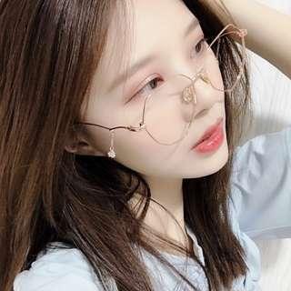 Irregular Shaped Glasses Drop Star Side Accessories Eyewear