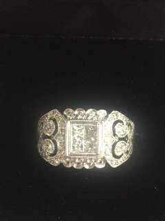 18kt wg pcut ring