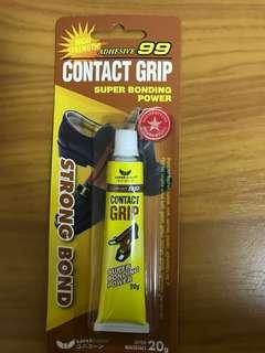 Shoe adhesive contact grip