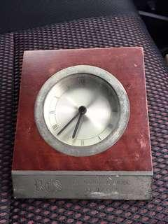RCS DIAMOND JUBILEE 1984/1985, TABLE CLOCK SELANGOR PEWTER