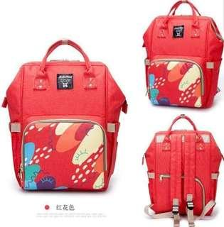 🚚 ❤ On-hand: Stylish Diaper Bag ( Red Floral)