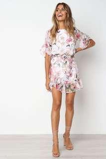 White floral dress size 8