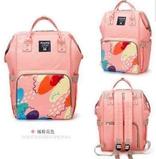 🚚 ❤ On-hand : Stylish Diaper bag (Peach Floral)