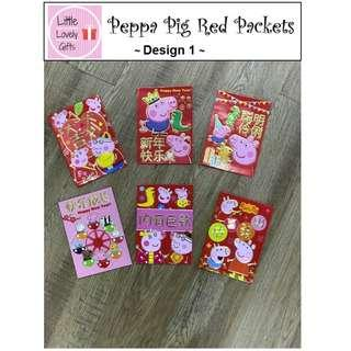 Peppa Pig Red Packets Ang Pow (2 packs for $2.50)