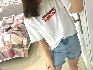 Too broke for supreme tshirt