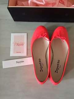 (NEW) Repetto flat leather shoes size 36