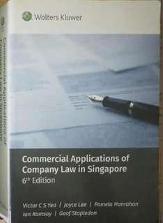 AC2302 Company Law Textbook RESERVED