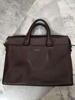 Beverly hills polo club brown briefcase