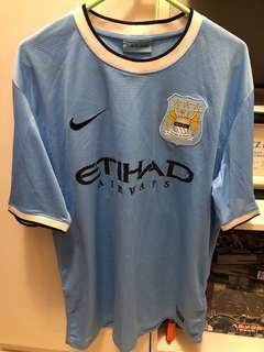 Manchester City Home Jersey 10 Dzeko Large size
