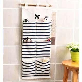 kantong gantung 6 slot motif stripes