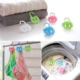 🚚 多功能洗衣曬衣球 環保洗衣球 四顆裝 全新