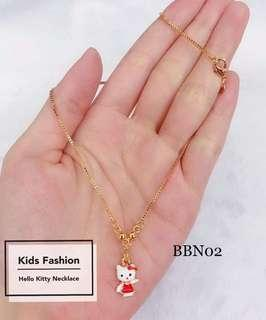 14K Bangkok Gold Hello Kitty Necklace for Kids