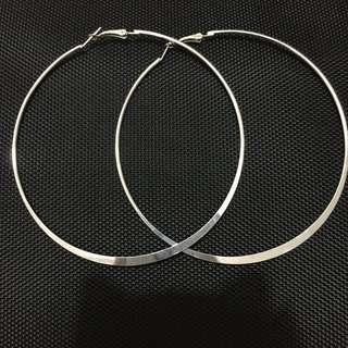 Silver Hoops earing