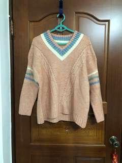 🚚 全新 粉色針織毛衣