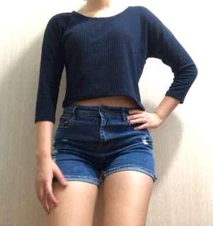 🚚 Ribbed Crop Sweater