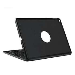 Bluetooth Keyboard Case with 7 Colors LED Backlit for iPad Air 2 Model A1566/A1567 (Black) ------ 1131