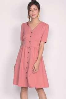 TDC Paula buttons waistband Dress Pink