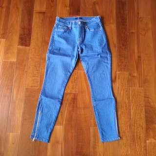 7 for all mankind seven skinny stretch ankle jeans size 26