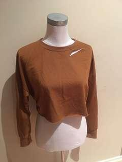 Brown cropped jumper