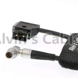 ALVIN'S CABLE Teradek Bolt 500 Power Cable lemo 2 pin Rotate 180 Right Angle Male to D-TAP ----   1129