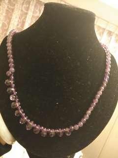 🚚 天然紫水晶套鍊